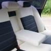 """Черно-белые авточехлы для Subaru Legacy с сиденьями """"Recaro"""" №9"""