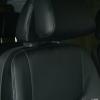 Чехлы из черной экокожи уровня перетяжки салона Mercedes Vito
