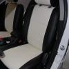 Черно-белые авточехлы для Mitsubishi Lancer 10