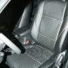 Чехлы из черной экокожи с перфорацией для Mitsubishi Outlander