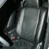 Чехлы из черной экокожи с перфорацией для Mitsubishi Outlander №1