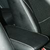 Чехлы из черной экокожи с перфорацией для Mitsubishi Outlander №3