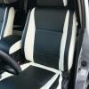 Топовые черно-белые авточехлы для Mitsubishi Pajero 2011 года №6
