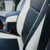 Топовые черно-белые авточехлы для Mitsubishi Pajero 2011 года №8