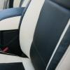Топовые черно-белые авточехлы для Mitsubishi Pajero 2011 года №9