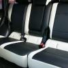 Топовые черно-белые авточехлы для Mitsubishi Pajero 2011 года №10