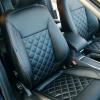 Чехлы для Ford Mondeo 4 из черной экокожи №1