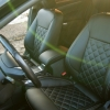 Чехлы для Ford Mondeo 4 из черной экокожи №3