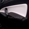 Переделанные вставки в карты дверей Ford Mondeo 4 из черно-белой экокожи №1