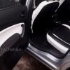 Переделанные вставки в карты дверей Ford Mondeo 4 из черно-белой экокожи №2