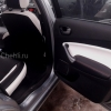 Переделанные вставки в карты дверей Ford Mondeo 4 из черно-белой экокожи №4