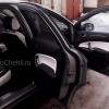 Переделанные вставки в карты дверей Ford Mondeo 4 из черно-белой экокожи №5
