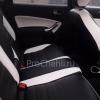 Переделанные вставки в карты дверей Ford Mondeo 4 из черно-белой экокожи №6