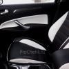 Переделанные вставки в карты дверей Ford Mondeo 4 из черно-белой экокожи №7