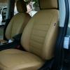 Бежевые авточехлы из экокожи для Nissan Qashqai
