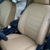Бежевые авточехлы из экокожи для Nissan Qashqai №8