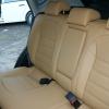 Бежевые авточехлы из экокожи для Nissan Qashqai №9