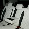 Черно-белые авточехлы из экокожи для Nissan Qashqai 1 restail
