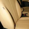 Бежевые авточехлы уровня перетяжки салона Nissan Tiida №1