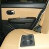 Бежевые авточехлы уровня перетяжки салона Nissan Tiida №13