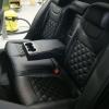 Чехлы для Skoda Octavia A7 из экокожи с отстрочкой двойной ромб №11