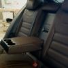 Чехлы для  Skoda Octavia A7 из темно-коричневой экокожи с двойной отстрочкой №7