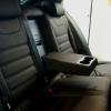 Чехлы для  Skoda Octavia A7 из темно-коричневой экокожи с двойной отстрочкой №8