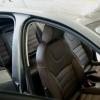 Чехлы для  Skoda Octavia A7 из темно-коричневой экокожи с двойной отстрочкой №11