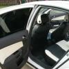 Авточехлы из черно-белой экокожи для Opel Astra H №3