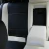 Авточехлы из черно-белой экокожи для Opel Astra H №4