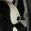 Авточехлы из черно-белой экокожи для Opel Astra H №6