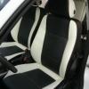 Авточехлы из черно-белой экокожи для Opel Astra H №8