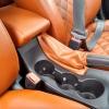 Чехлы для Opel Astra J из коричневой  экокожи с ромбом №4
