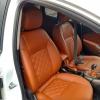 Чехлы для Opel Astra J из коричневой  экокожи с ромбом №5