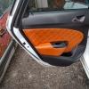 Чехлы для Opel Astra J из коричневой  экокожи с ромбом №6
