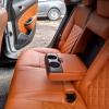 Чехлы для Opel Astra J из коричневой  экокожи с ромбом №9