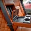 Чехлы для Opel Astra J из коричневой  экокожи с ромбом №10