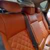 Чехлы для Opel Astra J из коричневой  экокожи с ромбом №11