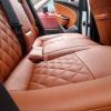 Чехлы для Opel Astra J из коричневой  экокожи с ромбом №12