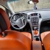 Чехлы для Opel Astra J из коричневой  экокожи с ромбом №14