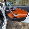 Чехлы для Opel Astra J из коричневой  экокожи с ромбом №16