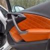 Чехлы для Opel Astra J из коричневой  экокожи с ромбом №17