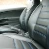 Чехлы на Opel Corsa из черной экокожи.