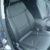 Черные авточехлы с перфорацией для Opel Vectra C №13
