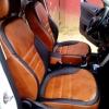 Черно-коричневые авточехлы для Skoda Eti 2006-2015