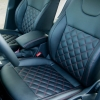 Чехлы для Skoda Octavia A7 из черной  экокожи с ромбом №1