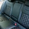 Чехлы для Skoda Octavia A7 из черной  экокожи с ромбом №5