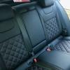 Чехлы для Skoda Octavia A7 из черной  экокожи с ромбом №11