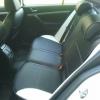 Черно-белые авточехлы с белой строчкой для Skoda Octavia A5 №1