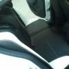 Черно-белые авточехлы с белой строчкой для Skoda Octavia A5 №4